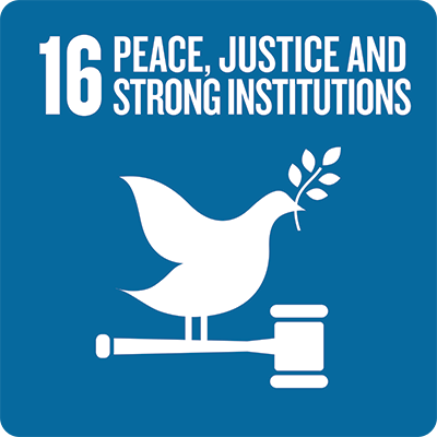 Sustainable development goal: Peace, justice and strong institutions